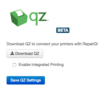 How To: Enable Integrated Printing – RepairQ